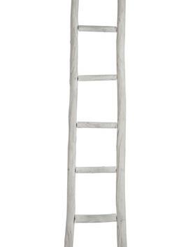 Ladder Ruw wit 5 Treden