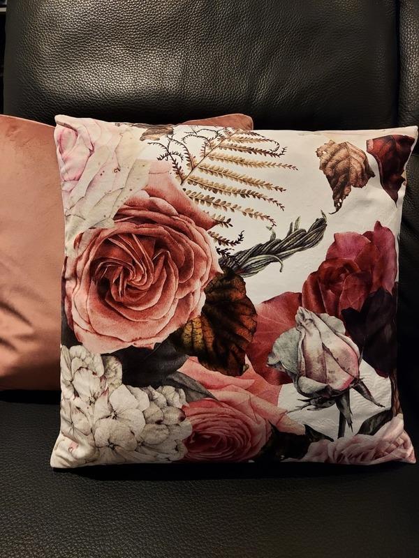 kussen 45x45 floral pink