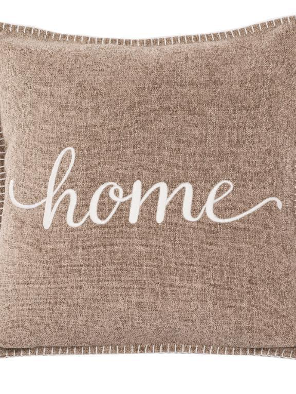 kussen taupe 'home'