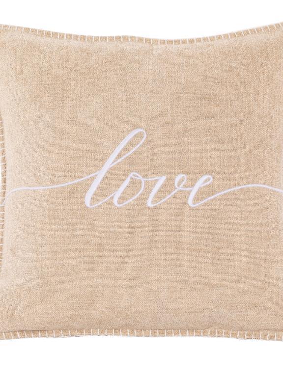kussen ivory 'love'