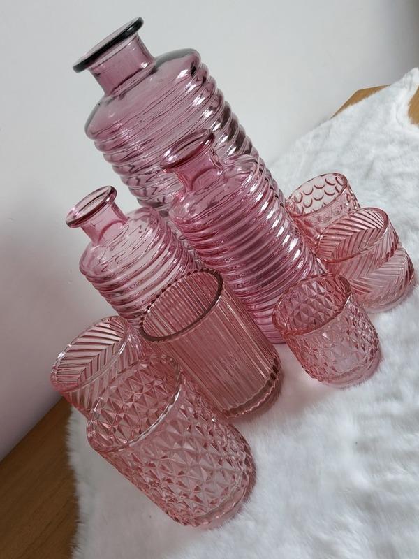 tl-houder soft pink rible smal