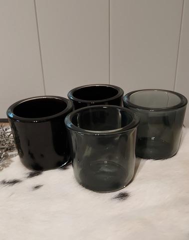 theelicht glas zwart