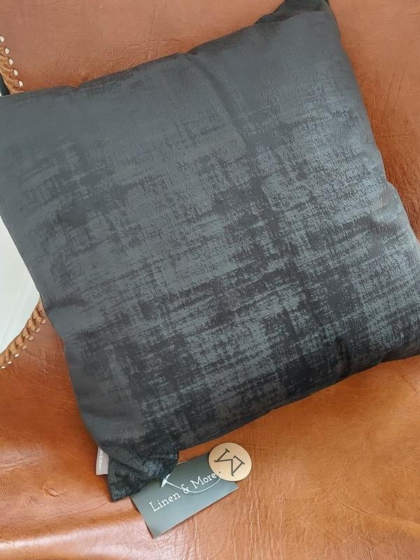 kussen 50x50 cm vintage velvet zwart