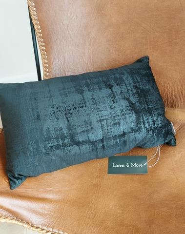 kussen 30x50 cm vintage velvet zwart