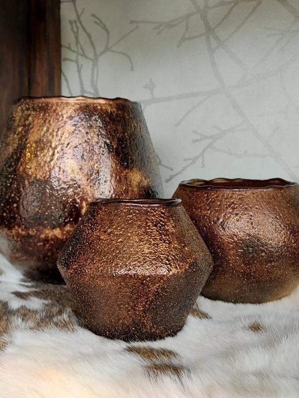 geschenk id-tje bruin/goud